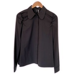 COS Check Blouse With Sleeve Detail